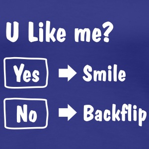 Smile or Backflip T-shirt - Women's Premium T-Shirt