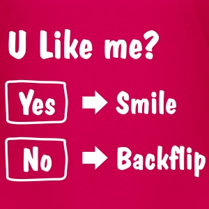Smile or Backflip T-shirt - Toddler Premium T-Shirt