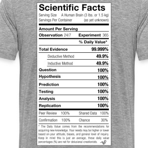 Scientific Facts are Nutritious by Tai's Tees - Men's Premium T-Shirt
