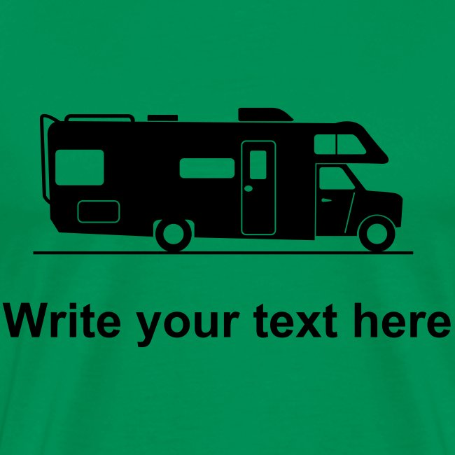 RV - add your own text t-shirt