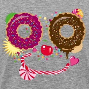 Sweet face with donuts and candy cane T-Shirts - Men's Premium T-Shirt