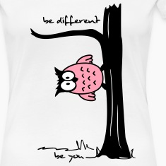 Owl on tree - be different, be you Women's T-Shirts
