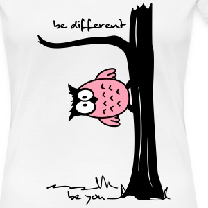 Owl on tree - be different, be you Women's T-Shirts - Women's Premium T-Shirt