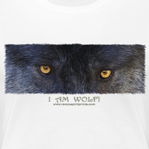 Grey Wolf Eyes - Women's Premium T-Shirt