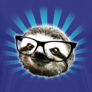 Cute! Hipster Sloth - Men's Premium T-Shirt