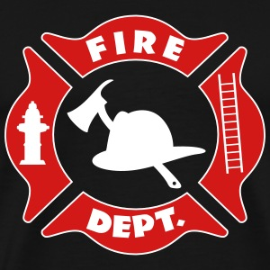 Fire Department Logo T-Shirts - Men's Premium T-Shirt