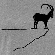 ibex capricorn mountain goat sheep rock climbing Women's T-Shirts