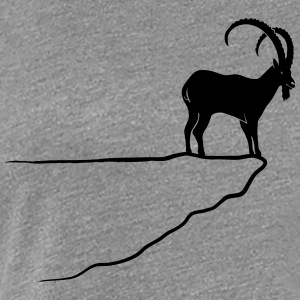 ibex capricorn mountain goat sheep rock climbing Women's T-Shirts - Women's Premium T-Shirt