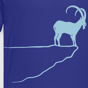 ibex capricorn mountain goat sheep rock climbing Baby & Toddler Shirts - Toddler Premium T-Shirt