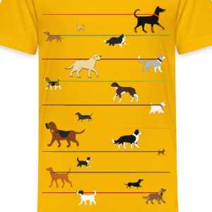 leash dog 2 Kids' Shirts - Kids' Premium T-Shirt