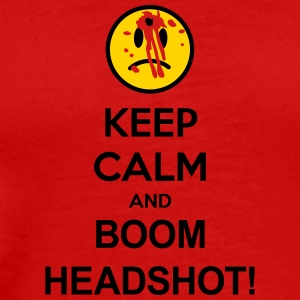 Keep Calm And Boom Headshot T-Shirts - Men's Premium T-Shirt