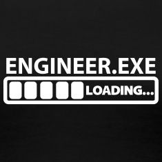 engineer exe loading Women's T-Shirts