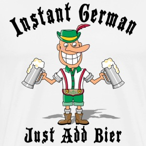 Instant German Just Add Bier T-Shirt - Men's Premium T-Shirt