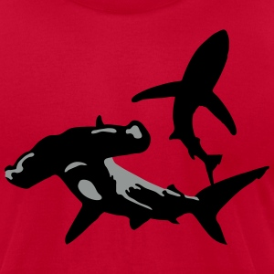 sharks - Men's T-Shirt by American Apparel