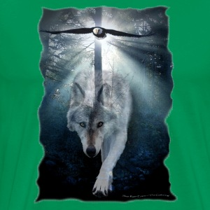Wolf & Eagle (The Gathering) - Men's Premium T-Shirt