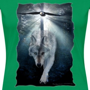 Wolf & Eagle (The Gathering) - Women's Premium T-Shirt