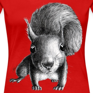 curious squirrel - Women's Premium T-Shirt