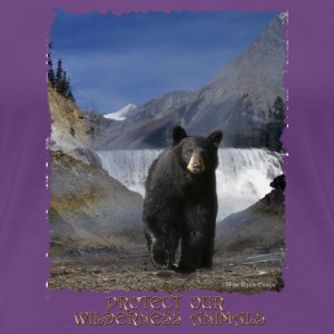 Black Bear & Waterfall - Women's Premium T-Shirt