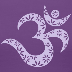 OM Mantra symbol, flowers, patterns, Aum, Buddhism Women's T-Shirts - Women's Premium T-Shirt