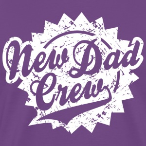 New Dad Crew Vintage Shield Design T-Shirt White - Men's Premium T-Shirt