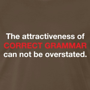The attractiveness of correct grammar T-Shirts - Men's Premium T-Shirt