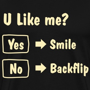 Smile or Backflip T-shirt - Men's Premium T-Shirt