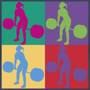 Weightlifting Retro - Women's Premium T-Shirt