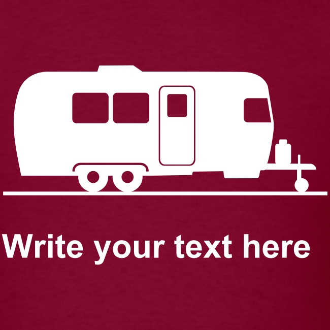 Trailer - add your own text t-shirt