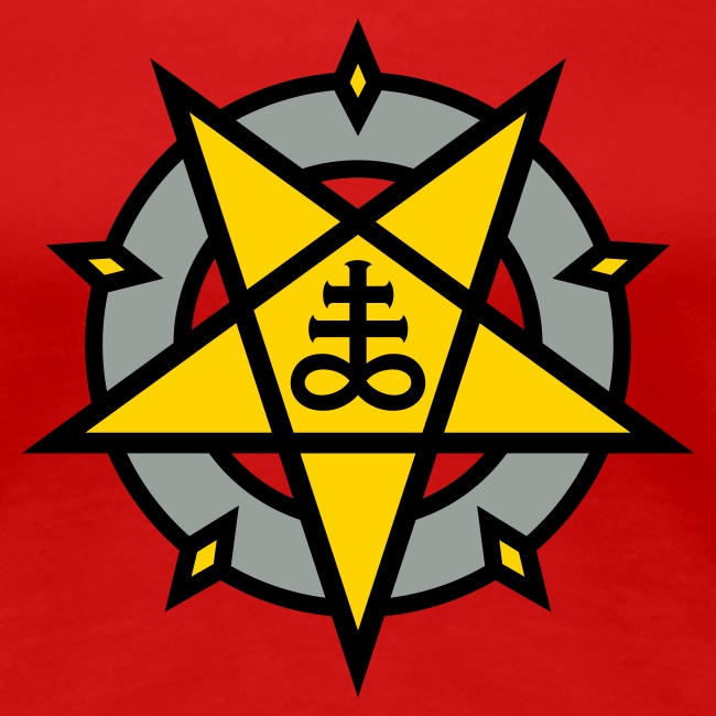 Mysticisland Shirtshop Pentagram Satans Cross No13c