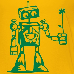 A robot with a flower Kids' Shirts - Kids' Premium T-Shirt