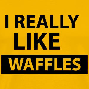i really like waffles T-Shirts - Men's Premium T-Shirt