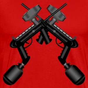 Paintball. Gun Cross. - Men's Premium T-Shirt