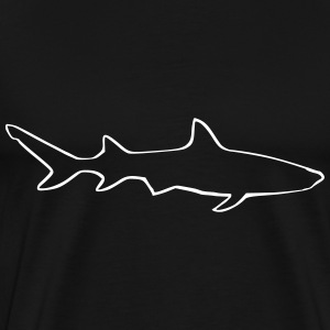 Shark outline - Men's Premium T-Shirt