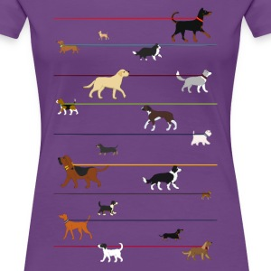leash dog 2 Women's T-Shirts - Women's Premium T-Shirt