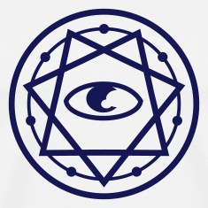 777 Pentagram with Eye 1c T-Shirts