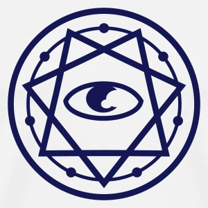 777 Pentagram with Eye 1c T-Shirts - Men's Premium T-Shirt