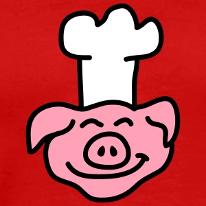 Pig Chef Head T-Shirts - Men's Premium T-Shirt