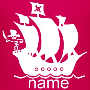 pirateship with name - Kids' Premium T-Shirt