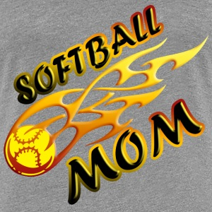 Softball Mom (flame) Women's T-Shirts - Women's Premium T-Shirt