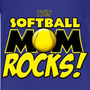 This Softball Mom Rocks Kids' Shirts - Kids' Premium T-Shirt