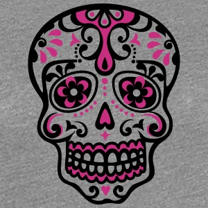 Skull, Mexico, flowers, patterns, skulls, mexican, Women's T-Shirts - Women's Premium T-Shirt