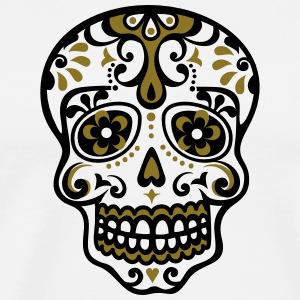 Skull, Mexico, flowers, patterns, skulls, mexican, T-Shirts - Men's Premium T-Shirt