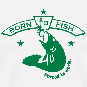 born to fish (1c) T-Shirts - Men's Premium T-Shirt