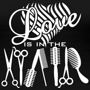 love is in hair (a, 2c) Women's T-Shirts - Women's Premium T-Shirt