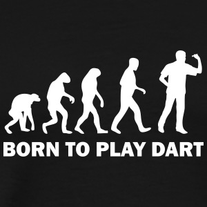 born to play dart T-Shirts - Men's Premium T-Shirt
