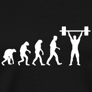 weight lifter evolution T-Shirts - Men's Premium T-Shirt