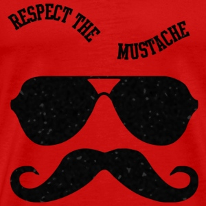 Respect The Moustache T-Shirts - Men's Premium T-Shirt