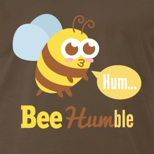 Funny cartoon on bee humble T-Shirts - Men's Premium T-Shirt