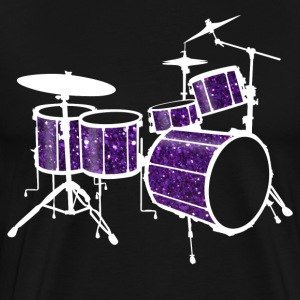 Purple Drum Set - Men's Premium T-Shirt