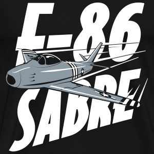 F-86 Sabre (Black, Metallic) - Men's Premium T-Shirt